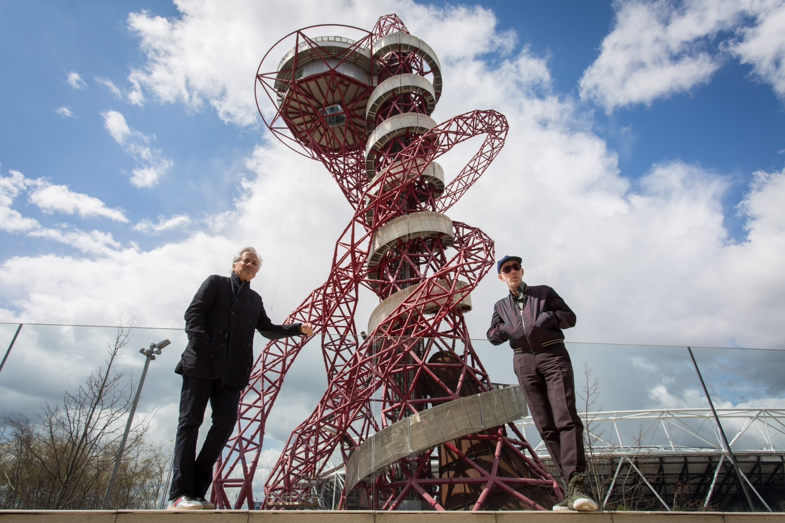 The Orbit tower's slide is fitted