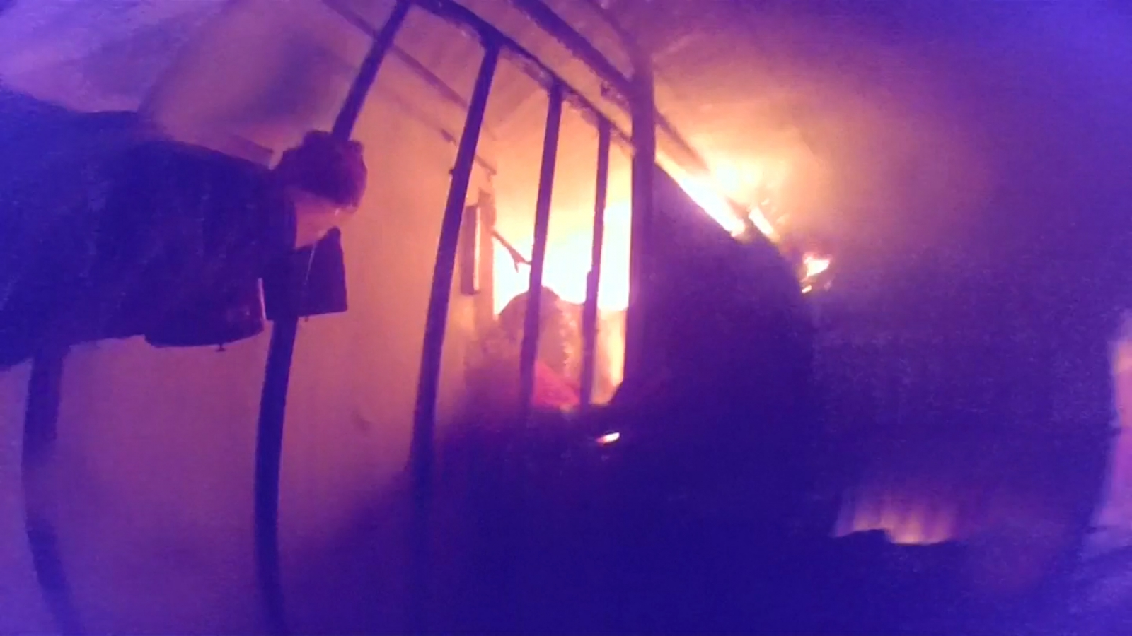 Chile: Dramatic footage shows police rescuing woman from deadly house fire