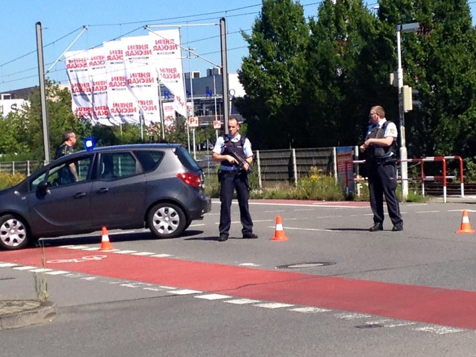 Armed police outside cinema