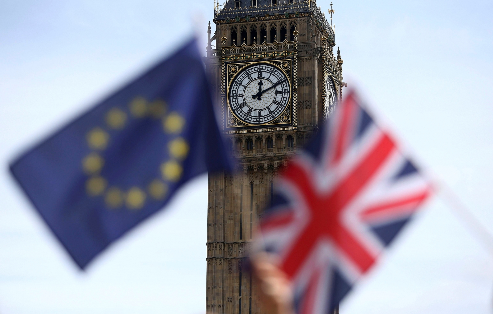 EU British Flag Parliament Square Big Ben