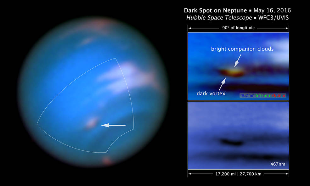 dark vortex on Neptune