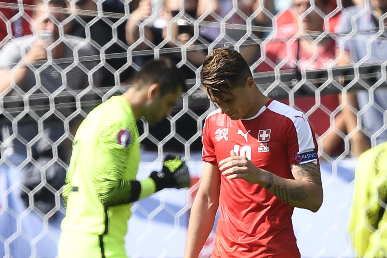 Granit Xhaka misses penalty