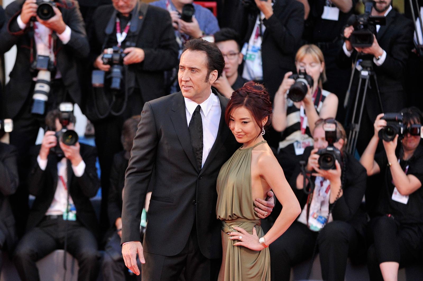 Actor Nicolas Cage and his wife Alice Kim Cage