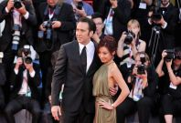 Actor Nicolas Cage and his wife Alice Kim Cage