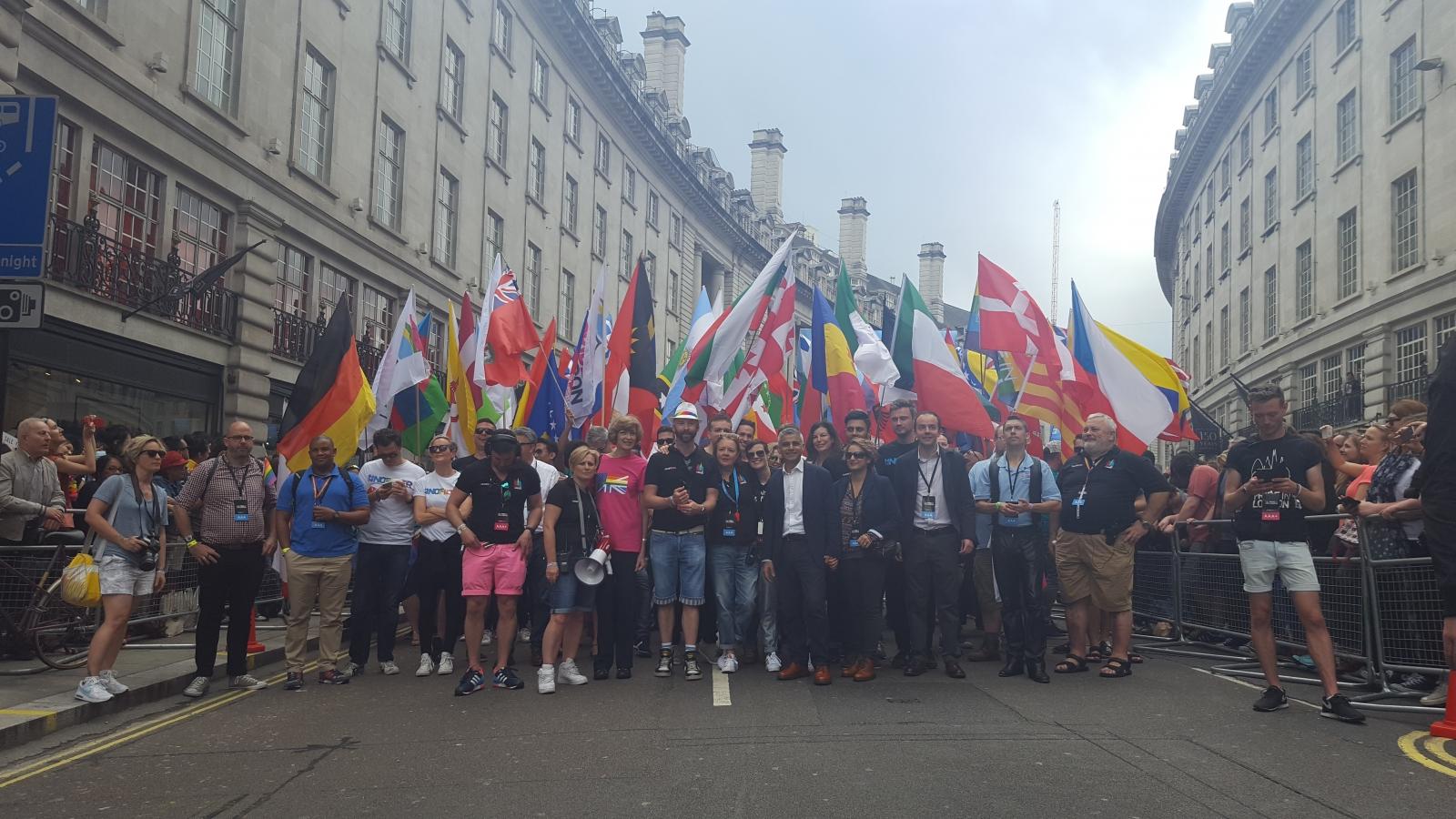 Sadiq Khan stand with London Pride organisers