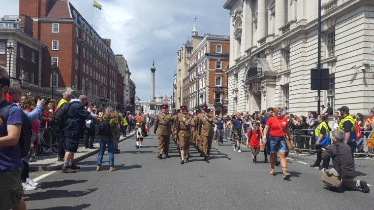 Armed Forces march during Pride