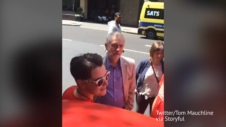 Jeremy Corbyn told to resign over 'weak leadership' at London Pride parade