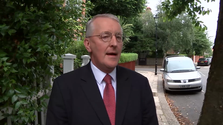 Corbyn 'not a leader' says sacked shadow foreign secretary Hilary Benn