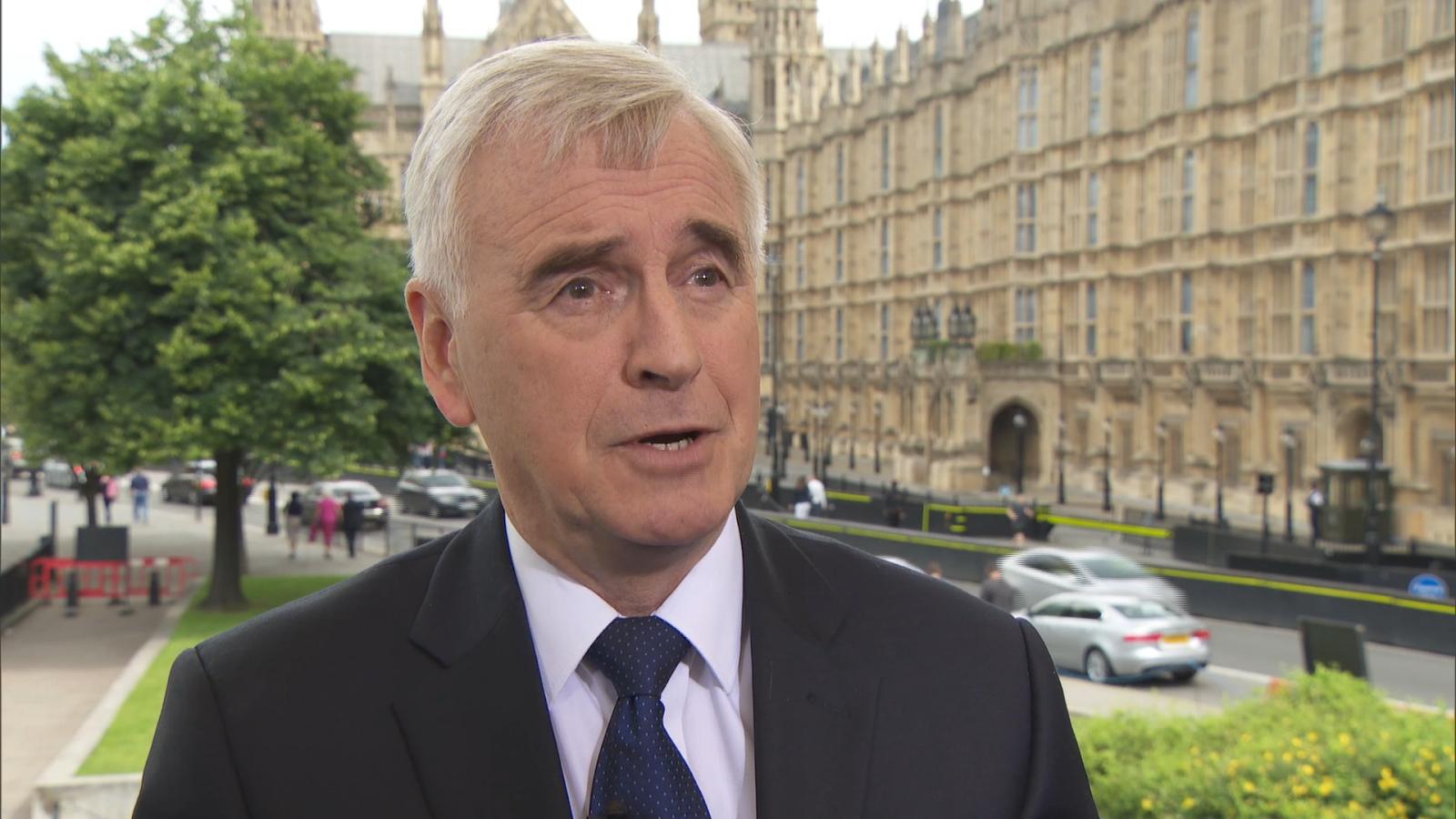 John McDonnell: Corbyn 'not going anywhere'