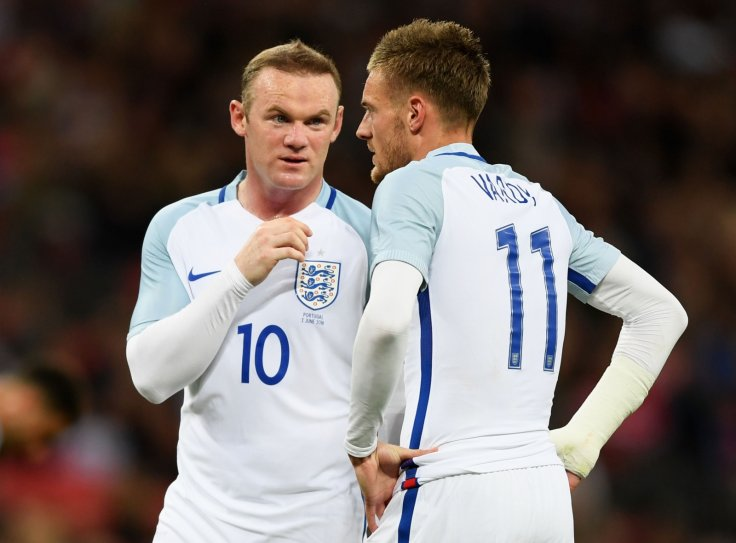 Wayne Rooney and Jamie Vardy