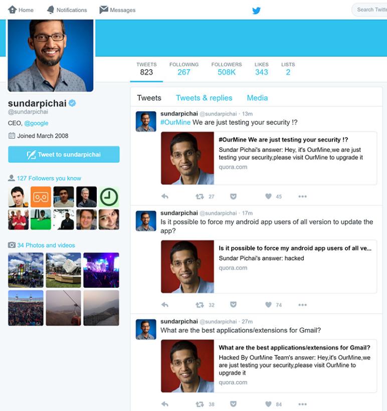 Sundar Pichai Twitter notifications
