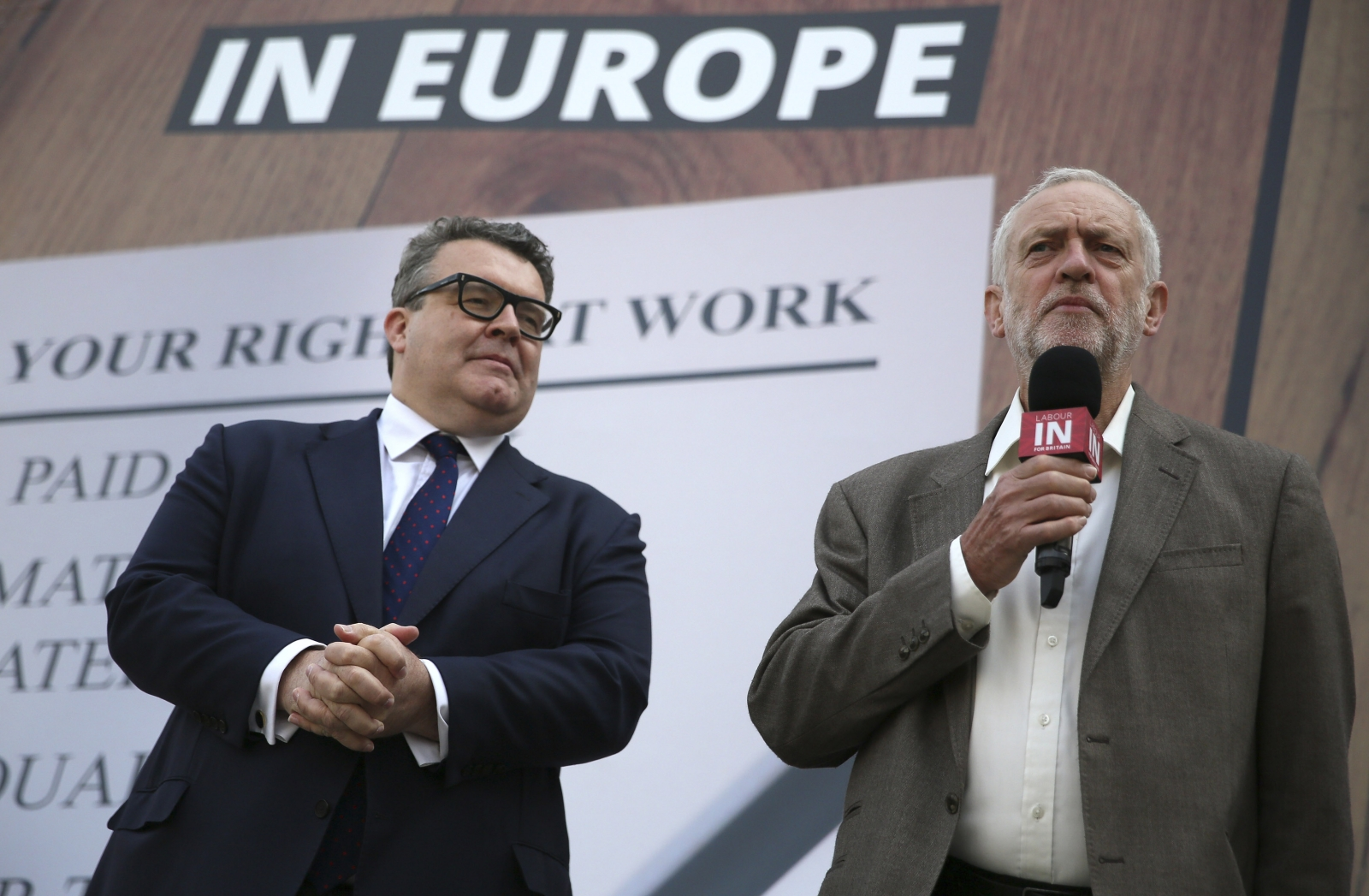 Tom Watson, Jeremy Corbyn at Labour In