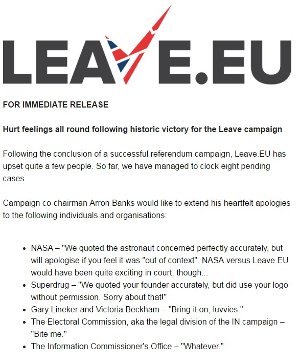Leave.EU statement