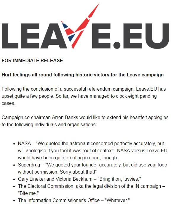 Leave.EU statement
