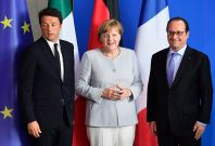 Merkel, Hollande, Renzi