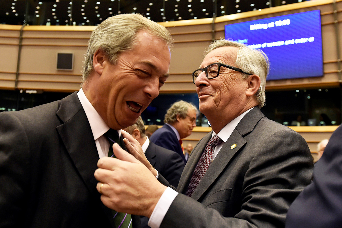 Nigel Farage, Jean Claude Juncker