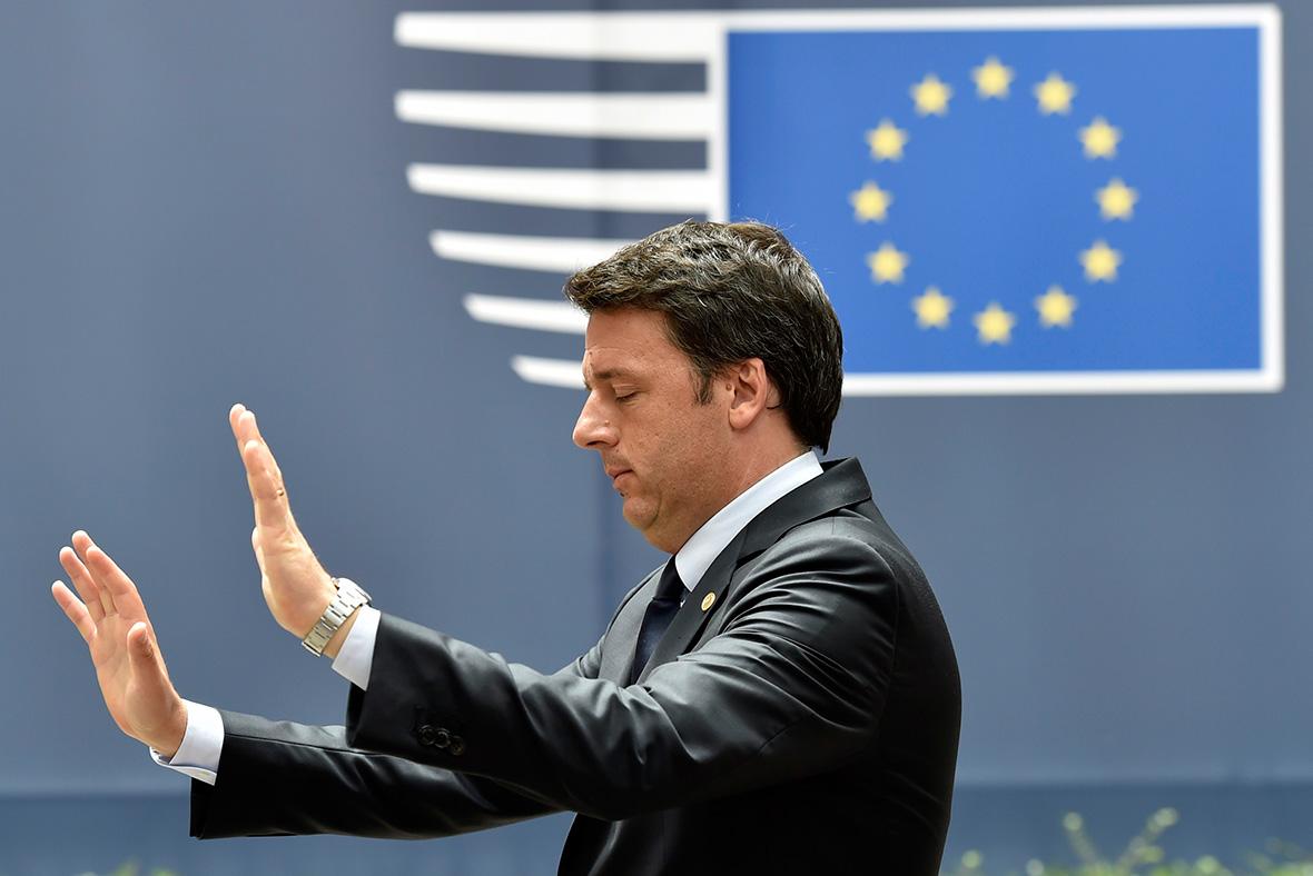 EU Summit: Matteo Renzi