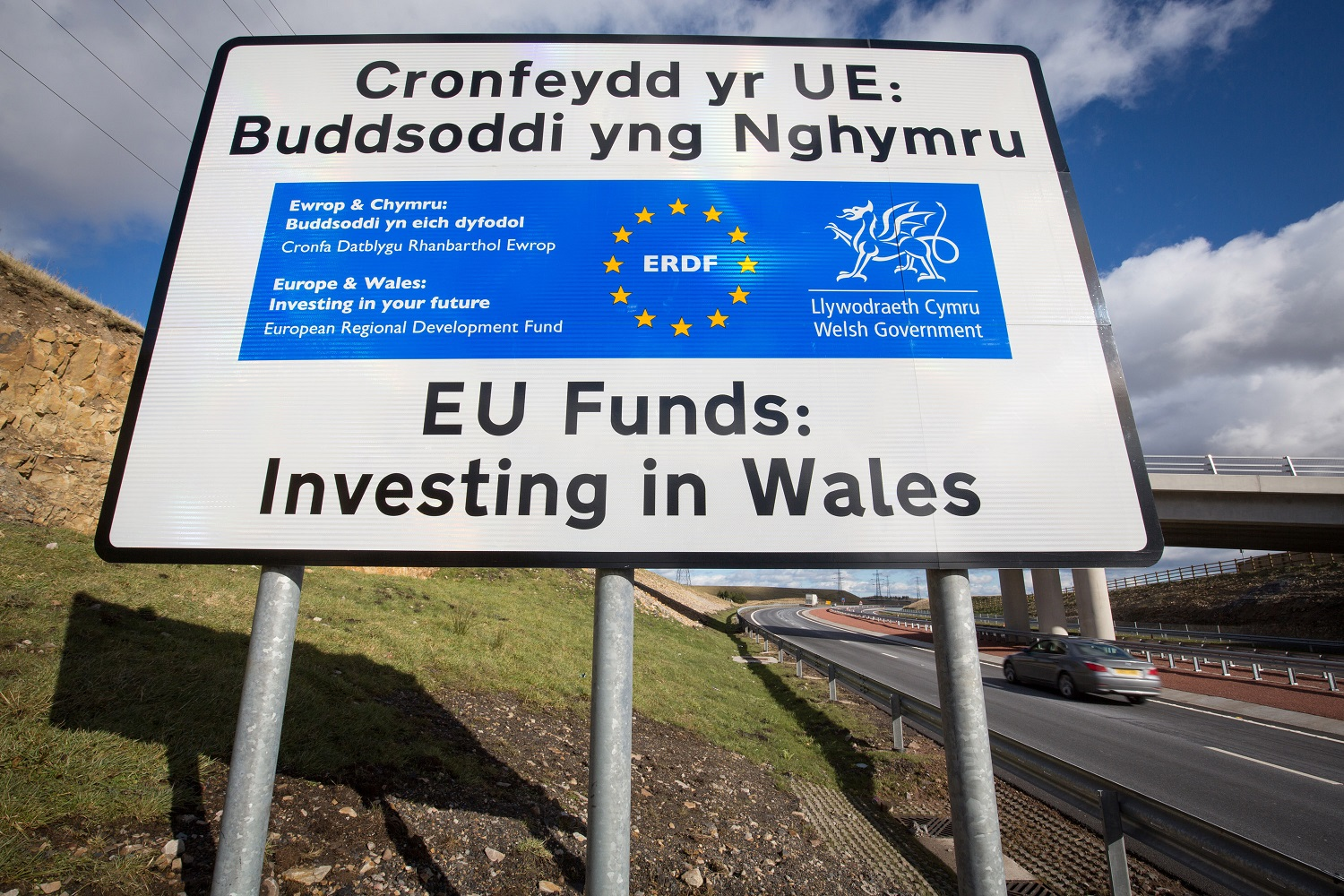 Wales road sign