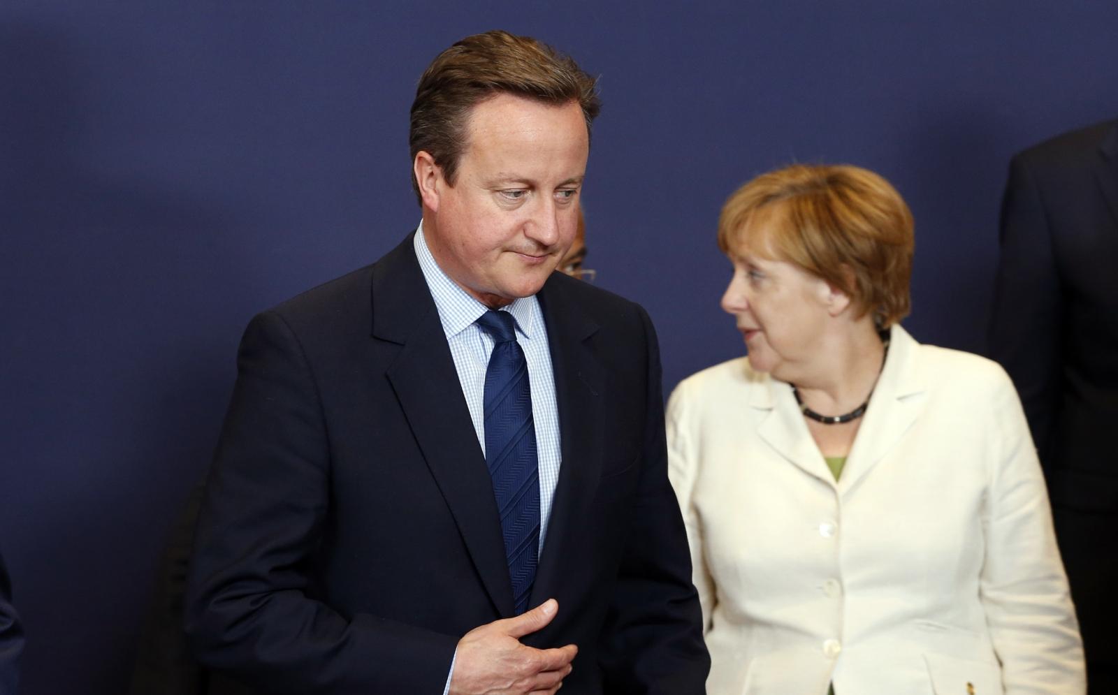 David Cameron & Angela Merkel