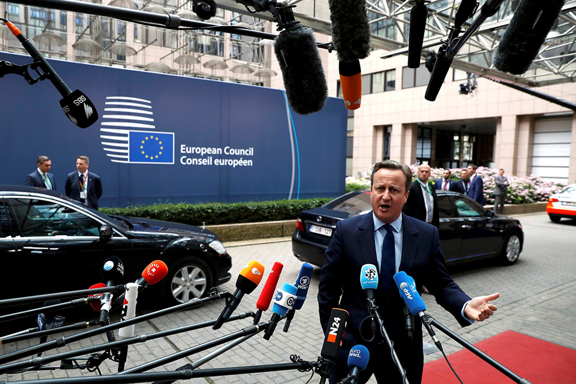 EU Summit: David Cameron