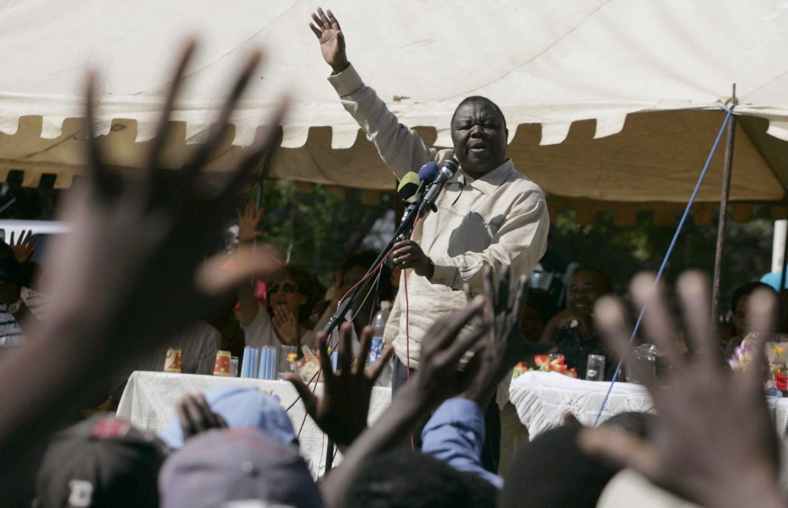 Zimbabwe's opposition leader Morgan Tsvangirai