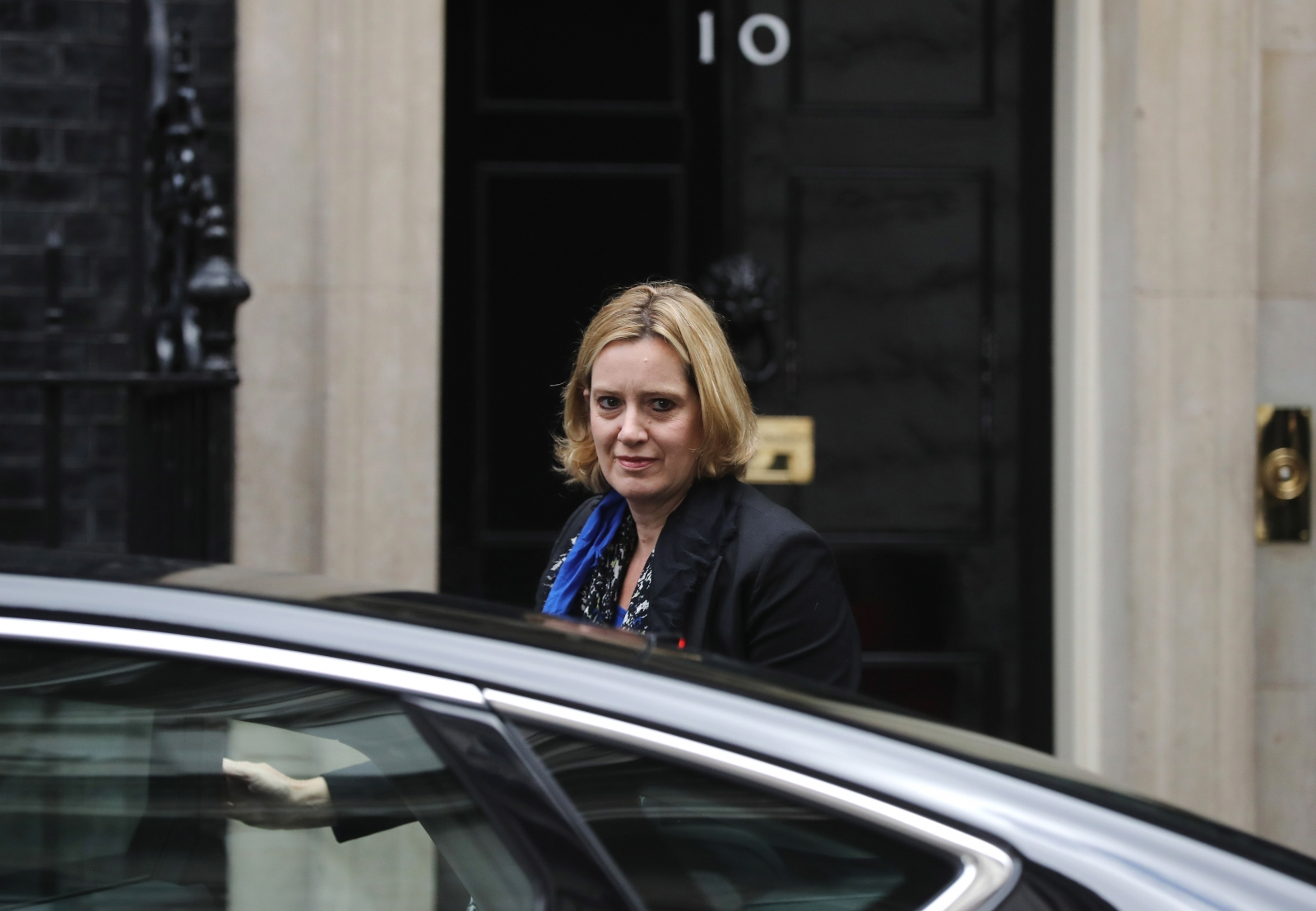 Amber Rudd outside Downing Street