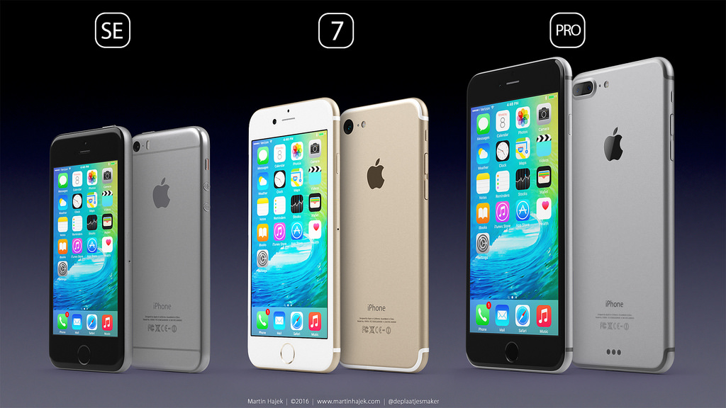 iPhone 7 lineup mock up