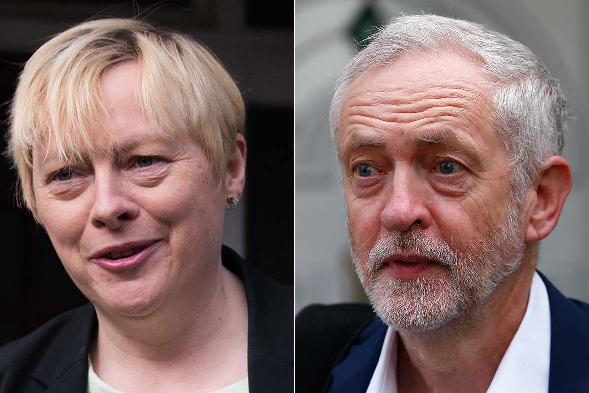 Awkward moment Angela Eagle takes questions from emptying room of journalists