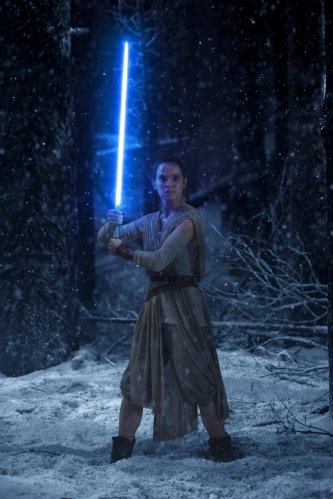 Daisy Ridley in The Force Awakens