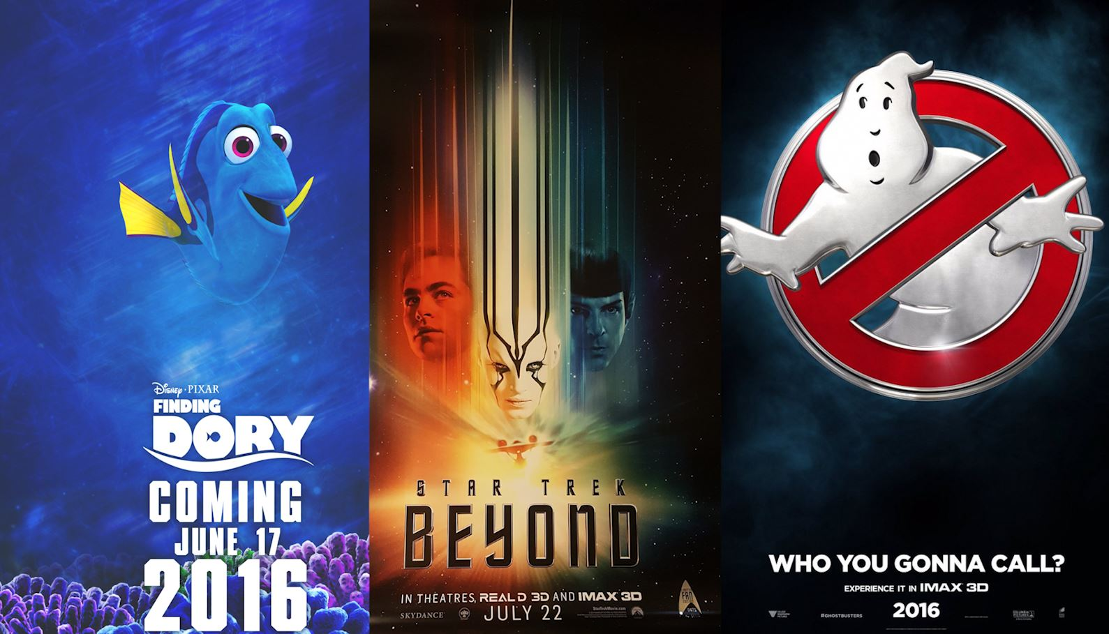 July film preview: Star Trek Beyond, Ghostbusters and Finding Dory
