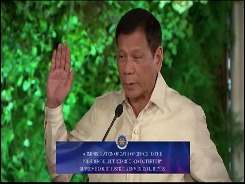 Rodrigo Duterte sworn in as president