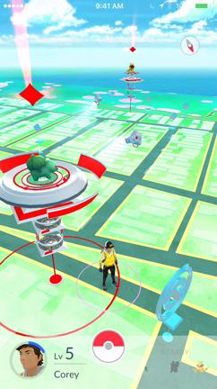 Pokemon Go: Rival gym battle gameplay