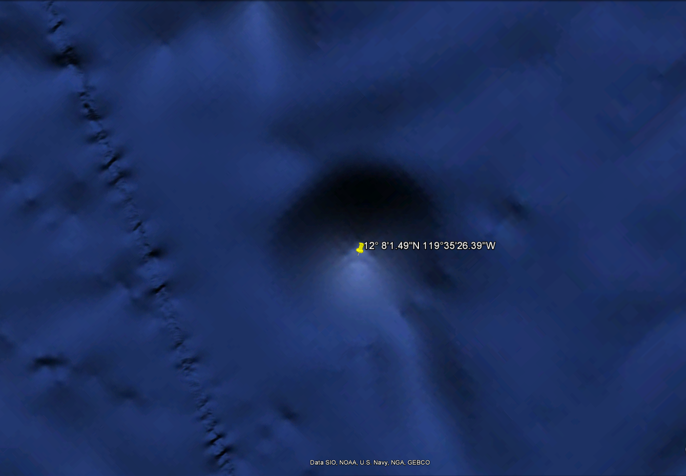 A supposed alien base in the Pacific