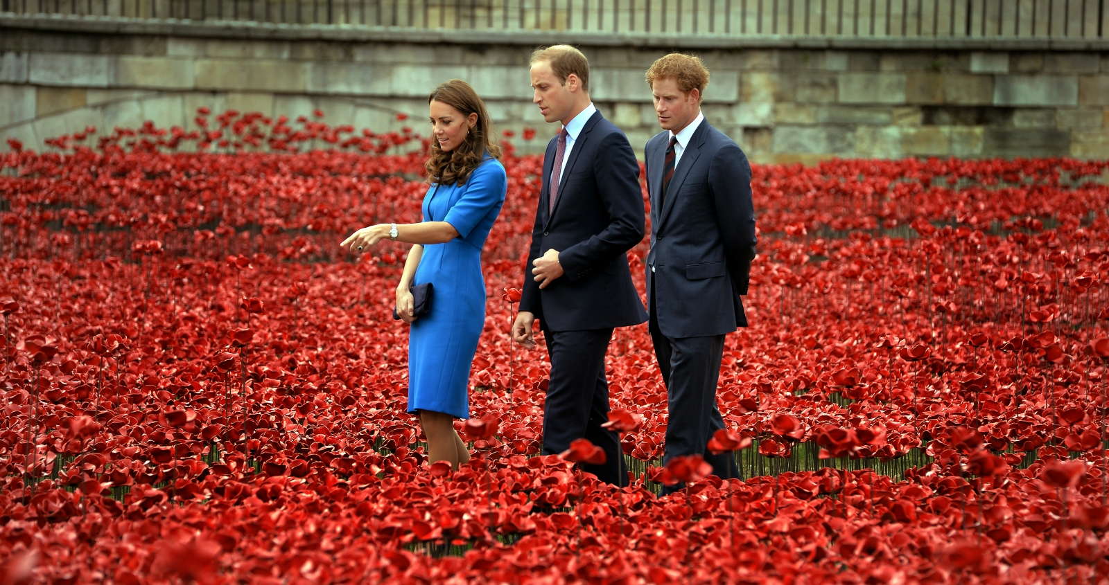 Kate Middleton Poppy field