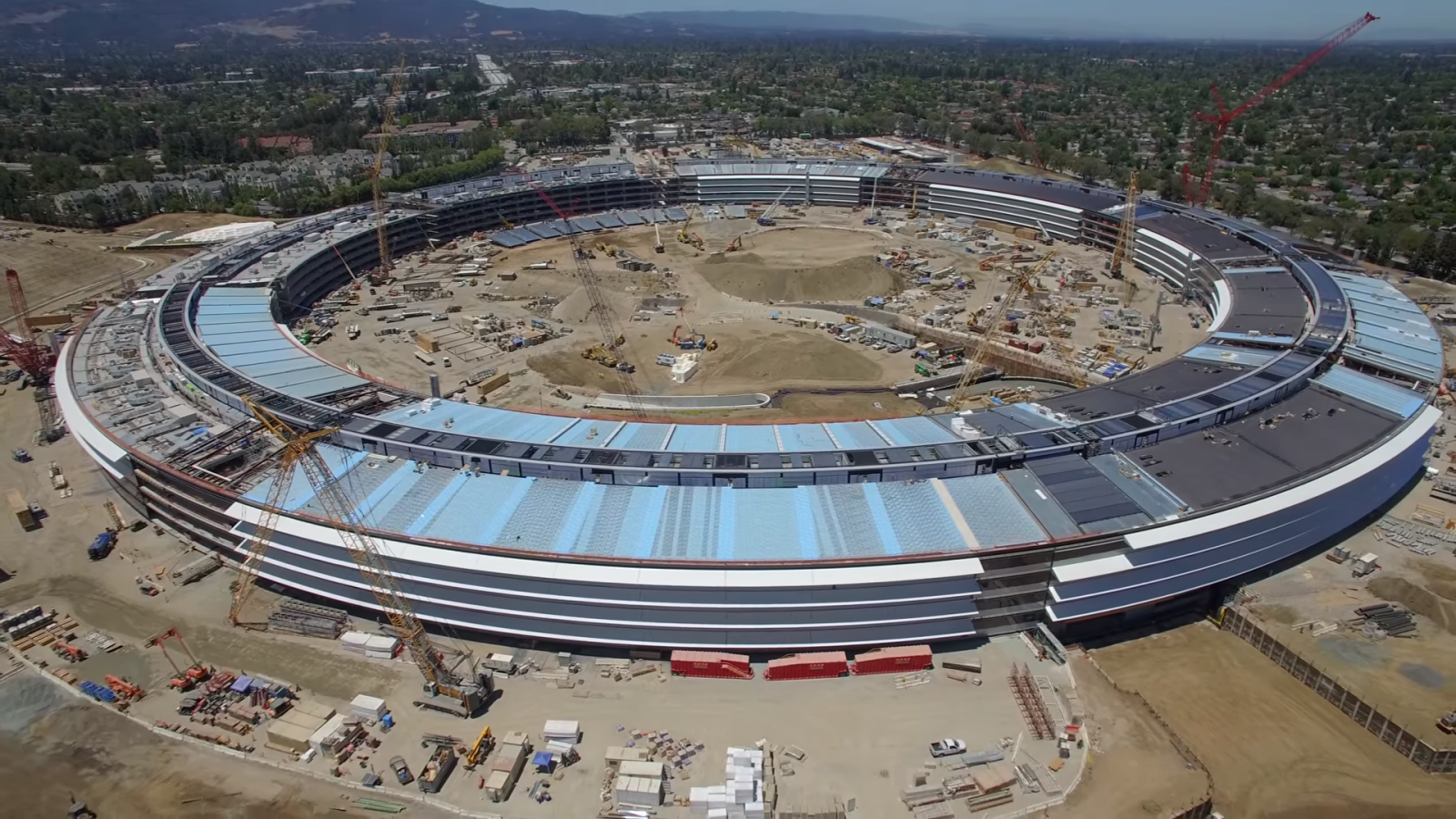 new apple office cupertino. Apple Campus 2: New DJI Drone 4K Video Shows \u0027Spaceship\u0027 HQ Six Months From Completion Office Cupertino