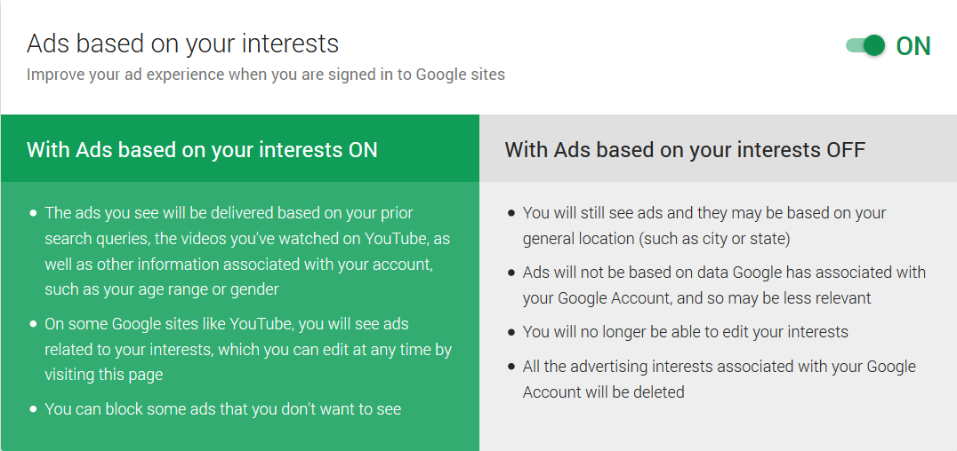 Ad interests - Google