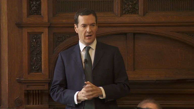 Osborne: 'we have got the deficit down to a forecast of less than 3%'