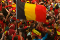 Euro 2016: Welsh Dragons and Red Devils turn Lille into a sea of red