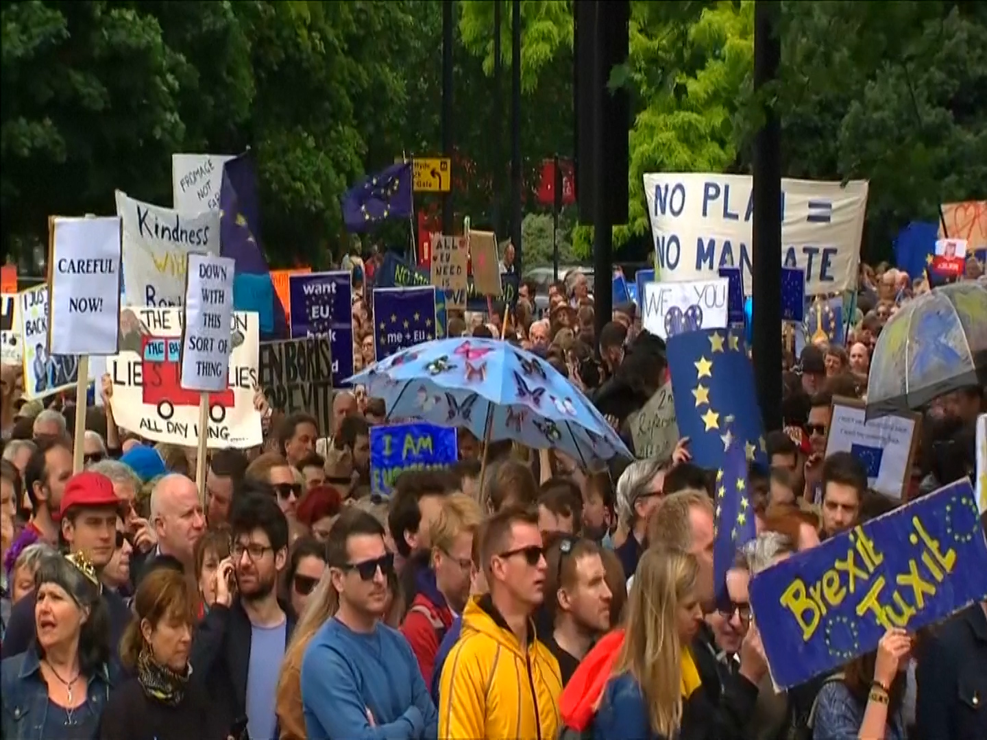Anti-Brexit protests March for Europe