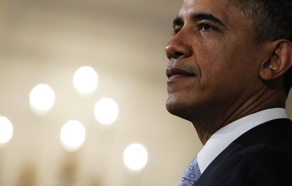 U.S. President Barack Obama delivers a statement at the White House