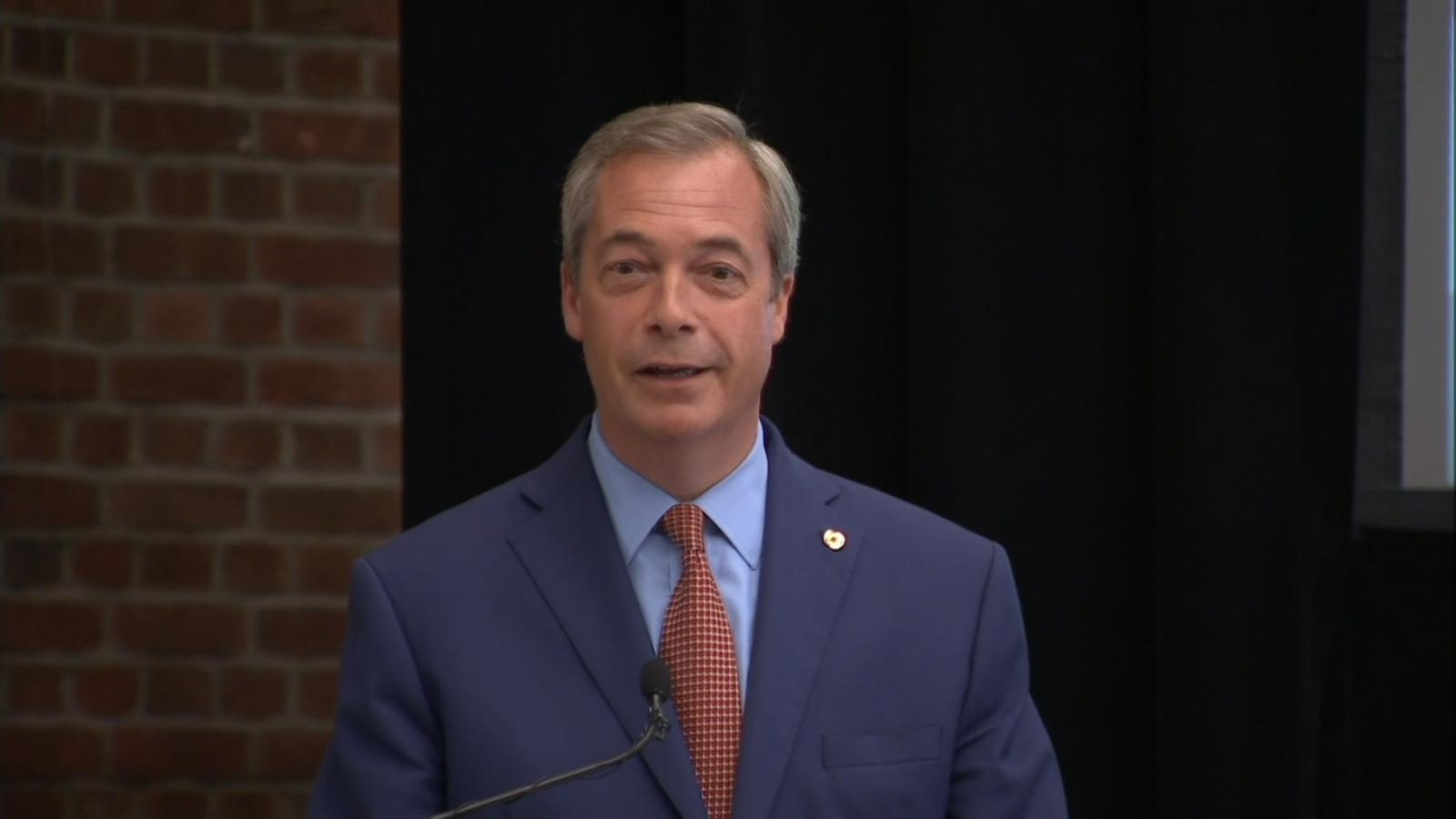 Nigel Farage resigns