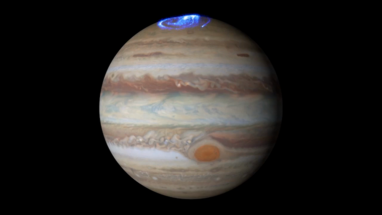 Nasa's Hubble captures stunning auroras at Jupiter's north ...