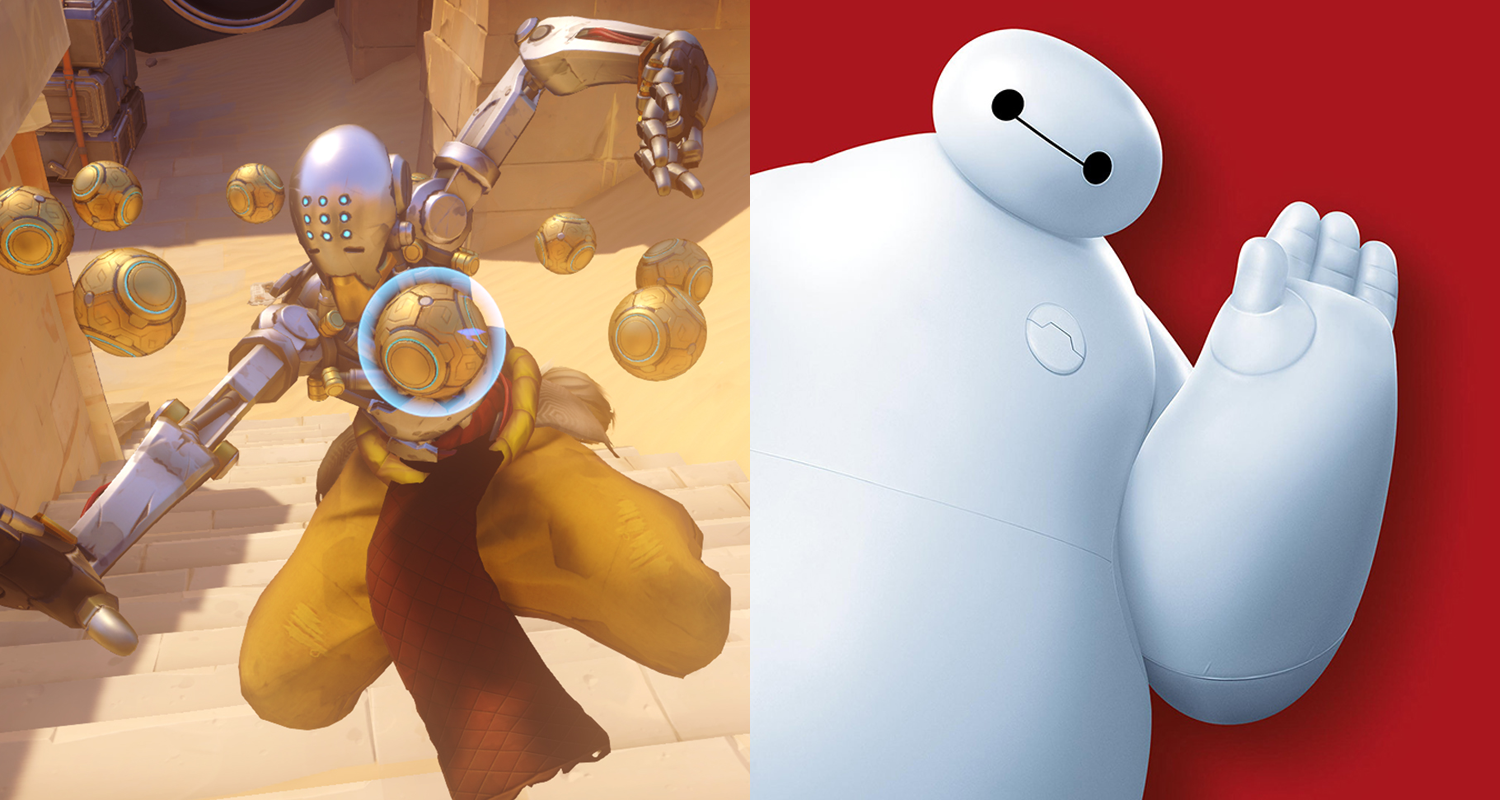 Zenyatta Overwatch Baymax Big Hero 6