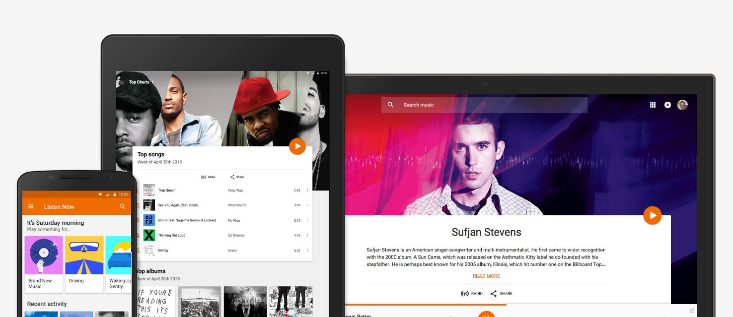 Google Play Music promo image