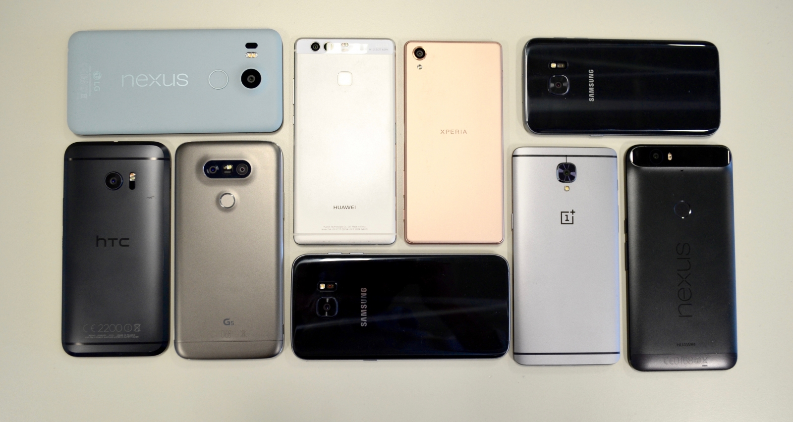 Android smartphone group test 2016