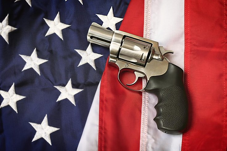 Gun and American Flag