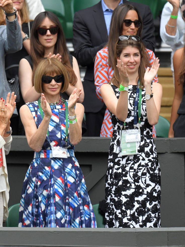 Anna Wintour (left) in the Royal Box