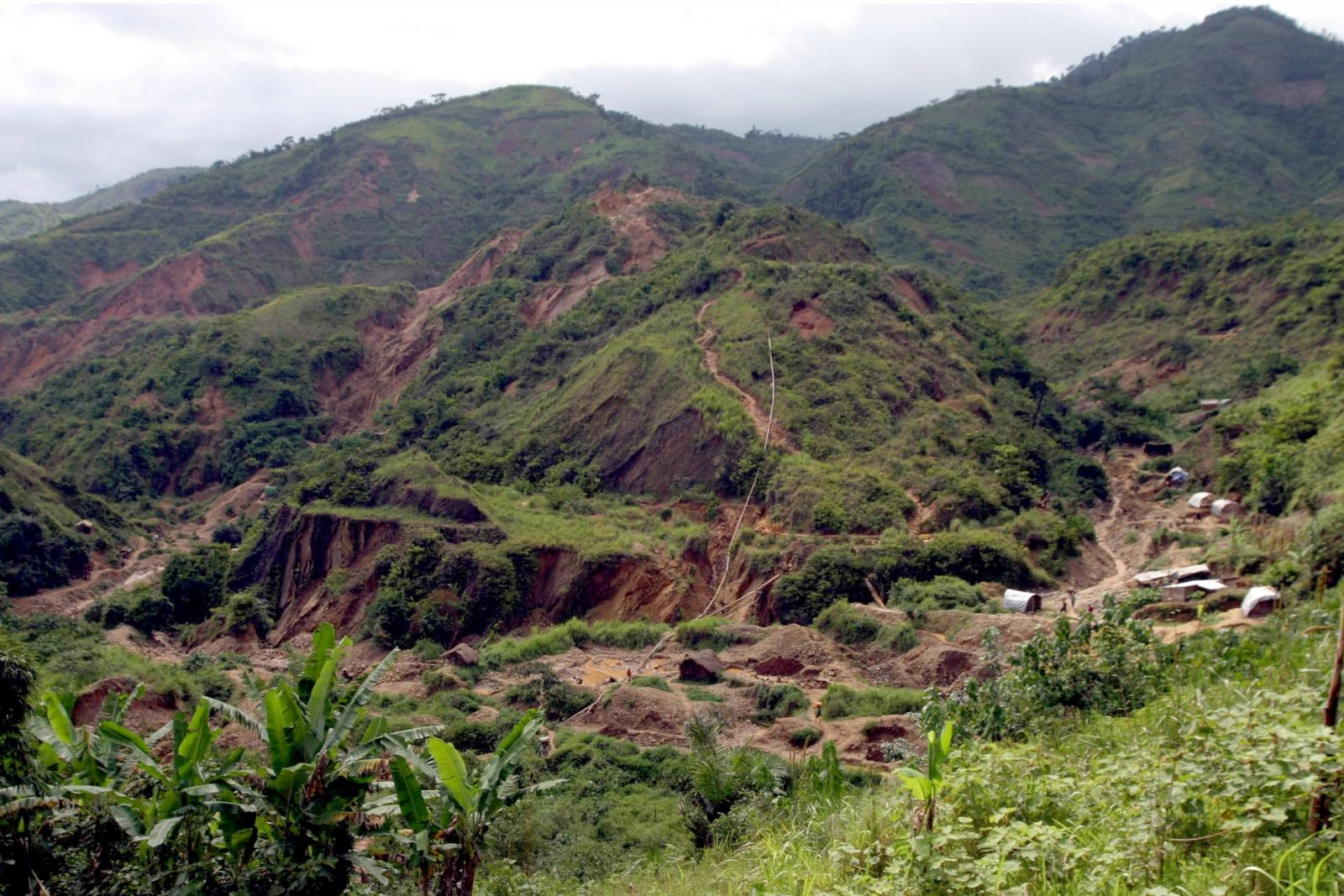 DRC gold mountain