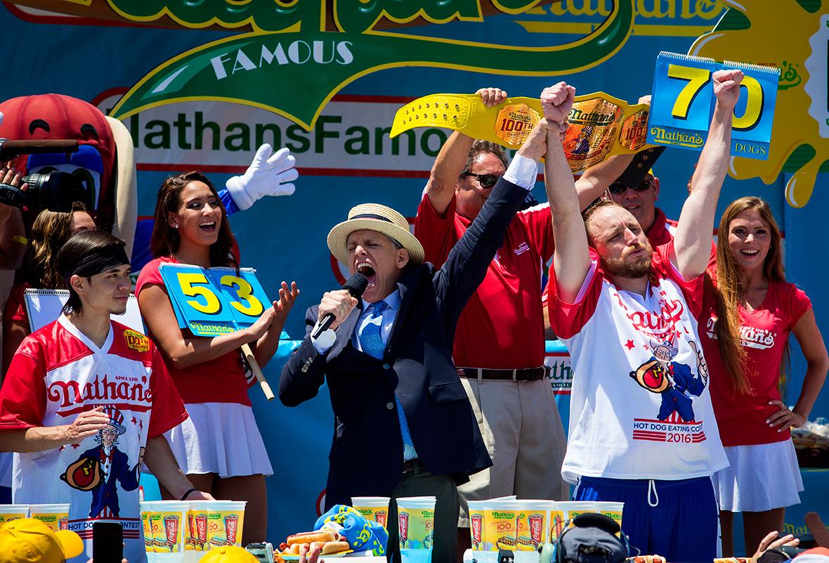 Nathans Hot Dog Eating championship