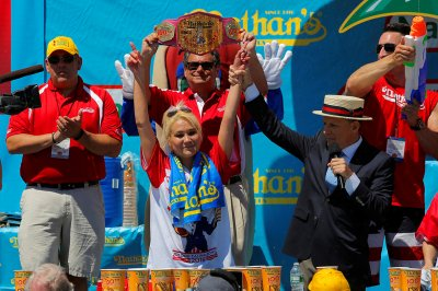 Nathans Hot Dog Eating championship